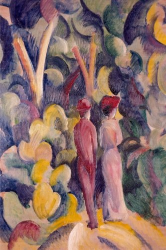 Paar auf dem Waldweg, August Macke: Notizbuch, 160 Seiten, Liniert, Größe: 15.24 x 22.86 cm, soft cover por Studio Beeker