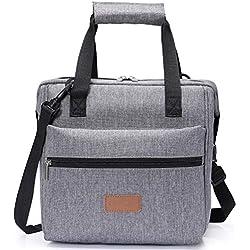 Lifewit Sac Isotherme Sac de Repas, Sac à Déjeuner Lunch Bag (Gris 10L)
