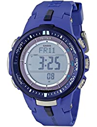 Casio PRW3000-2B Men's Pro-Trek Grey Digital Dial Resin Strap World Time Watch