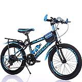 Kinderfahrräder Guo Shop 6-7-9-10-15 Jahre Alt Kinderwagen 18/20/22 Zoll Jungen und Mädchen Schüler Variable Geschwindigkeit Mountainbike (Farbe : Blau, Größe : 20