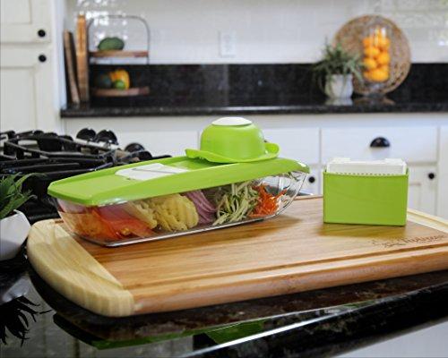 Mandolina para Comida, excelente para rebanar y triturar frutas y vegetales