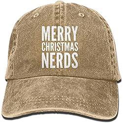 huiaibaihuidian RZM YLY Merry Christmas Nerds Gorra de béisbol Ajustable de Mezclilla Lavada Vintage Unisex para Adultos