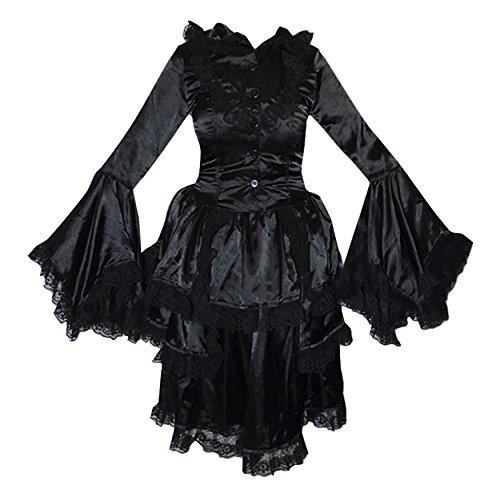 Zoelibat 47004941.008s-Steampunk balze vestito da donna in acciaio donna con pizzo e trompetenärmeln