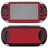atFoliX Sony PlayStation Vita Skin 'FX-Carbon-Red' Sticker Pelle - Struttura in carbonio / Foglio di carbonio