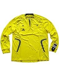 Adidas maillot d'arbitre jaune à manches longues Clima365 - citron jaune/onix foncé, XL, Polyester