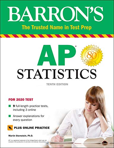 Barron's AP Statistics with Online Tests (Barron's Test Prep)