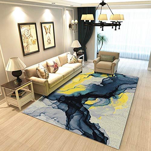 Jayea Winter Teppich Isolierung Abstrakte Kunst Wohnzimmer Teppich Kinder Rutschfester Kriechender Teppich Weicher Bereich Teppich,Blue,130 * 190cm