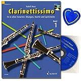 Clarinettissimo Band 1 mit CD - Die fröhliche Klarinette von Rudolf Mauz - Klarinette in B. Fit in allen Tonarten: Übungen, Duette und Spielstücke mit bunter herzförmiger Notenklammer