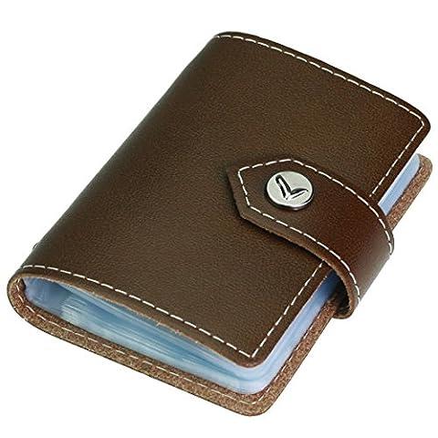 kilofly Porte-cartes–Style Livre avec poches Carte 26–Colton, avec pince Mini carte cadeau incluse taille unique marron