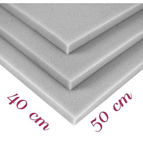 Plaque de mousse en polyuréthane RG 25/44 40/50/3cm pour tapisserie d'ameublement coussin siège P182