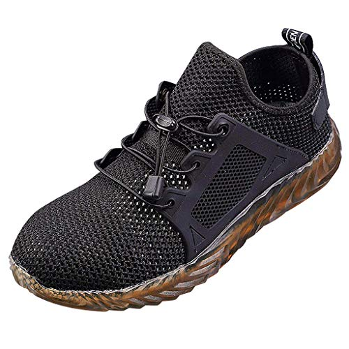 88da25e5e50b New 2019 Indestructible Ryder Safety Shoes for Men and Women with Steel Toe  Cap|Lightweight Breathable Work Shoes|Puncture-Proof Work Sneakers Black