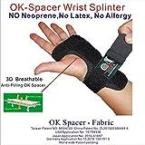 Irufa, Attelle de poignet en tissu jersey élastique WS-OS-20, 3D respirant, bracelet de nuit sommeil, support pour syndrome du canal carpien, tendinites, douleurs au poignet, entorses, réglable