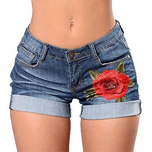 YURACEER Kurze Hosen Damen Sommer Frau Sommer Spitze Floral Shorts Sommer Neue Damen Mini Mesh Spitze Häkeln Blume Tiered Frauen Kurze Hosen Sommer Kleidung x1