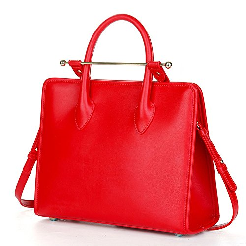 Preisvergleich Produktbild Männer Business Messenger Schultertasche Crossbody Tote Bag 12 Zoll Laptop Tablet Aktentasche Handtasche Bürotasche (Farbe : Rot)