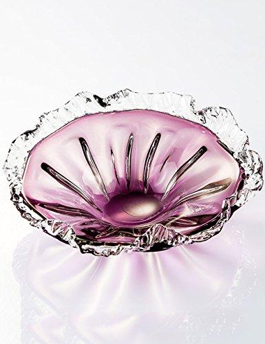 Piatto di frutta casa comune Colorful cristallo piatto di frutta a mano in vetro piatto di frutta la chiave alla piastra snack piatto di insalata Piastra facile da usare ( colore : 2 )