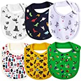 Real Baby Pure Cotton Bibs Multicolored (0-2 Years, Pack of 6)