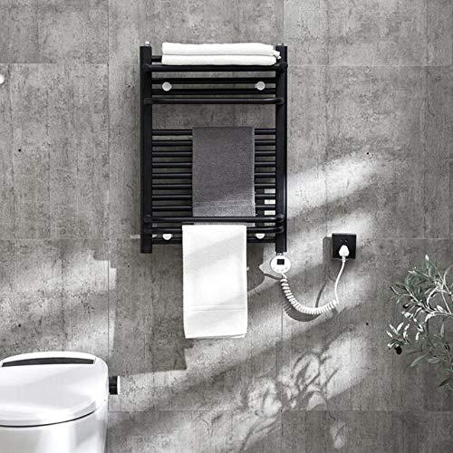 Wandmontierte beheizte Handtuchständer, elektrisch beheiztes Handtuchregal mit Regal, Carbon-Edelstahl H31