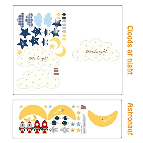 kor Wolken Regentropfen für Kinderzimmer Dekoration Mond und Sterne Babyparty-60cmx26cm pleasant ()