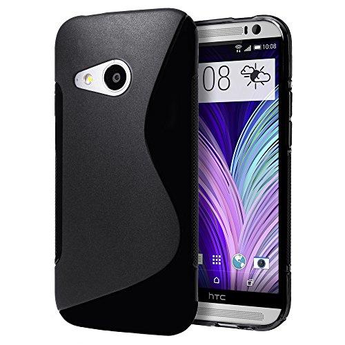 HTC One Mini 2 Hülle, Zemo [] Schutzhülle aus Weichem TPU für HTC One Mini 2 (2014) S Black