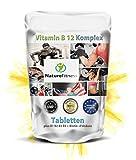 Vitamin B 12 Komplex plus B1 B2 B3 B5 + Biotin +Folsäure 250 Tabletten