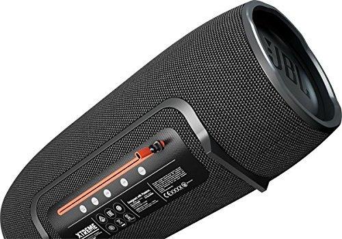 JBL Xtreme Altoparlante Stereo Bluetooth Portatile, Resistente agli Spruzzi, con Vivavoce, Compatibile con Dispositivi iOS Apple e Android, Nero
