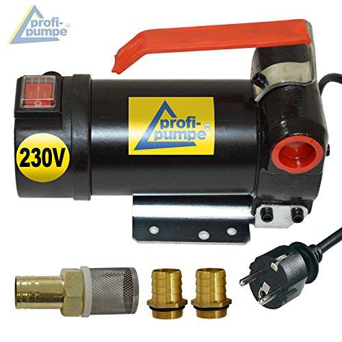 230V Dieselpumpe Heizölpumpe Biodiesel-Pumpe Ölpumpe Diesel Star 160 mit Anschluss Elektro Fasspumpe, Leistungsstarker Motor mit Kupferwicklung 2stk. Tüllen zum Super-Preis