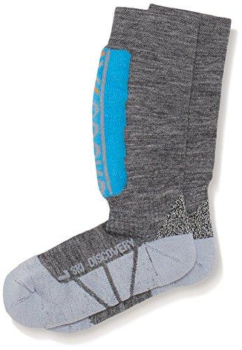 x-socks-chaussettes-de-ski-junior-discovery-azure-gris-clair-multicolore-light-grey-azure-35-38