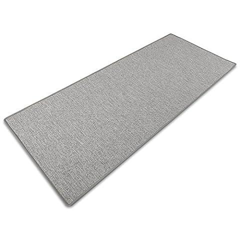 Tapis gris doux casa pura® effet sisal   polypropylene + coton   salon, chambre, couloir   7 couleurs   au metre - Sabang,