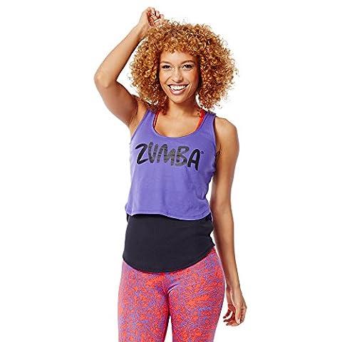 Zumba Fitness WT Love My Layered Loose, Débardeur pour femme XL Violet - Purple Moon