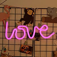 LED Neon Sign Battery and USB Powered Nursery Night Light for Bedroom Girls Wall Decor Light for Party Holiday Wedding Valentine