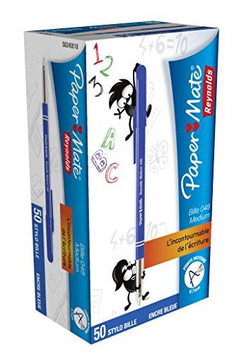 reynolds-lot-de-12-stylos-a-bille-048-pte-moyenne-bleu