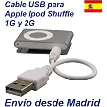 Cable USB para Apple iPod Shuffle 1era Generacion - 2da Generacion Cargador Sincroniza Datos Jack MP3 MP4