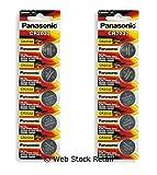 CR2032 Panasonic 3V Lithium Coin Cell Battery 5 nos