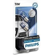 Philips WhiteVision 12929NBVB2 - Bombilla Para Faros Delanteros (Efecto Xenon T4W), Pack 2 Unidades