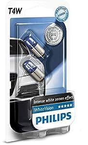 Philips WhiteVision effet xénon T4W lampe automobile 12929NBVB2, blister de 2