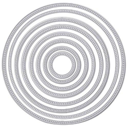 Suweqi Stanzformen Schablone Metallform Vorlage Für Karte, DIY Scrapbooking Prägung Album Dekoration Präsentieren DIY Hochzeit Grußkarte (Kreis Runde)