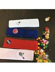 EQLEF® Una pieza Deportes colorido suave de las vendas venda del pelo de la historieta para la decoración de pelo Deportes