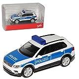 Volkwagen Tiguan II Weiss Blau Polizei 2. Generation Ab 2015 H0 1/87 Herpa Modell Auto mit individiuellem Wunschkennzeichen