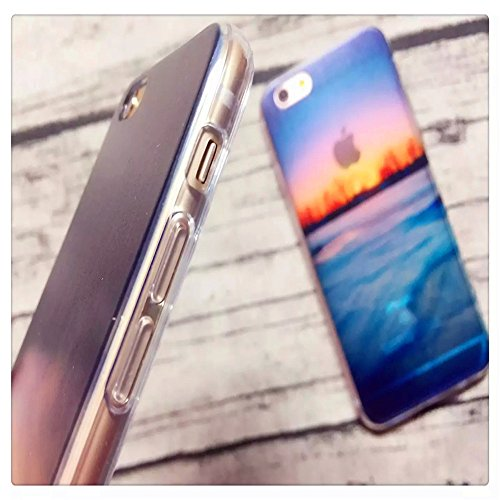 """Coque iPhone 6 6S 4.7"""" Bumper, TKSHOP Etui Housse pour iPhone 6 6S Case Ultra-slim Mince Couverture Souple Doux TPU + PC 2 in 1 Hybride Plastique Silicone Couvrir Transparent Anti-rayures et Anti Choc Mutif 25"""