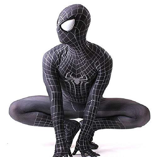 Marvel Legends Spiderman Heimkehr Anzug Erwachsene Spiderman Kostüm Kind Spider Man Maske Geburtstagsfeier Cosplay Kleidung,A-Adult/L