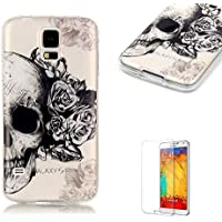 Custodia Samsung Galaxy S5,Funyye Morbida Sottile TPU Gel Silicone Cover