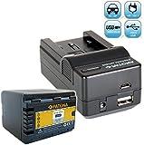 Bundlestar Akku Ladegerät 4 in 1 inklusive Ladeschale für Panasonic VW VBK360 E + PATONA Akku Ersatzakku für Panasonic VW VBK360 E K passend zu Panasonic HDC HS60 HS80 SD40 SD60 SD66 SD80 SD90 SD99 SDX1 TM40 TM55 TM60 TM80 TM90 -- SDR H85 H95 H100 H101 S45 S50 S70 S71 T50 T55 T70 T71 T76 -- HC V707 V500 V100 V10 -- NEUHEIT mit Micro USB-Anschluss (ACHTUNG: NICHT FÜR DIE NEUEN MODELLE VON 2013, MIT AKKU VBT190 VBT380 !!)