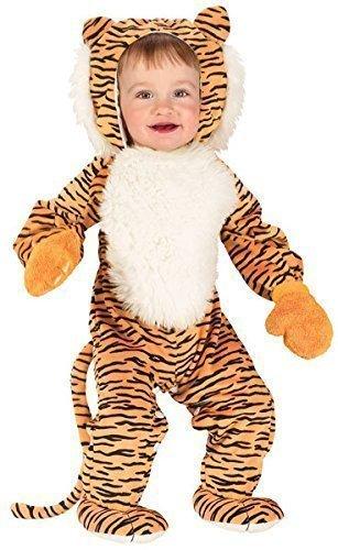 Baby Kleinkind Tier Overall Halloween büchertag Kostüm Kleid Outfit 6 Monate - 2 Jahre - Tiger, 6-12 Months (Baby-tiger Halloween Kostüme)