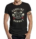 GASOLINE BANDIT® Hot Rod Biker T-Shirt: Vintage Rider-L