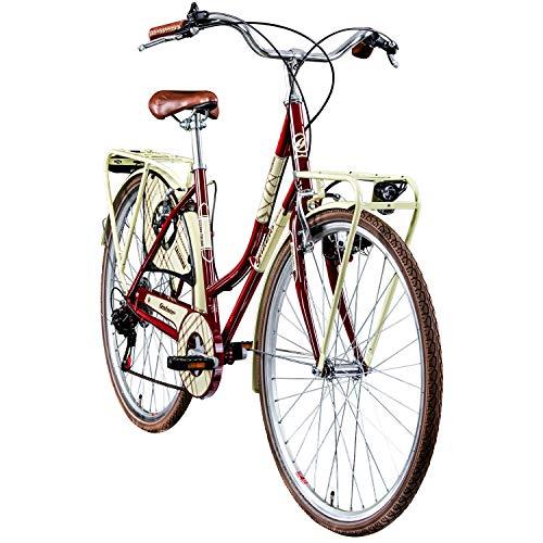 "Galano Hollandrad 700c Damenfahrrad Citybike Damenrad 28\"" Caledonia Fahrrad (rot, 48 cm)"