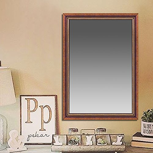 Elegant Arts & Frames Dark Brown With Golden Inner Decorative Wooden Mirror 18 inch x 12 inch