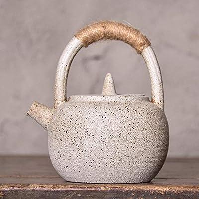 Théière Céramique Théière En Céramique Poterie noire poutres pot en céramique Ensemble de thé Kung Fu petite théière théière en grès fait main ménage théière Zen vent thé de style japonais