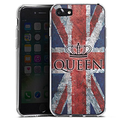 Apple iPhone X Silikon Hülle Case Schutzhülle Queen Großbritannien Flagge Union Jack Silikon Case transparent
