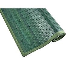 Tiendas Mi Casa - Alfombra de bambú KENIA (70x150 cm, Verde). Disponible en varios tamaños y colores.