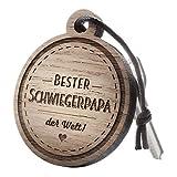 """Schlüsselanhänger aus Holz mit Gravur """"Bester Schwiegerpapa"""""""